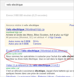Positionnement Google Recherches